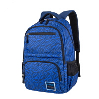 FLOMO 富乐梦 CL-307D深蓝条 中小学生中高年级书包护脊减负休闲双肩包 当当自营
