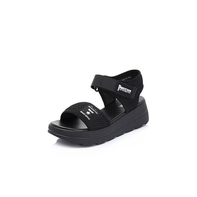 Belle/百丽2018夏专柜新款网布女厚底凉鞋BVJ36BL8