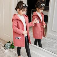 女童洋气呢子大衣2018新款韩版儿童加厚上衣女孩冬装毛妮外套童装