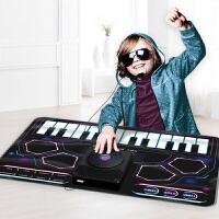 儿童架子鼓电子琴学习DJ打碟打鼓音乐毯玩具