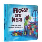 英文原版绘本 Froggy let's Gets Dressed 吴敏兰书单 美国100本阅读书单 绘本123 纸板书
