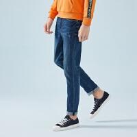 森马牛仔裤男春季修身小脚长裤男士2019新款弹力裤子青少年韩版