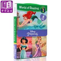 【中商原版】迪士尼阅读世界公主系列World of ReadingDisney Princess Set5-8岁
