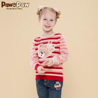 【2件2.5折 到手价:150】Pawinpaw宝英宝卡通小熊童装冬季款女童毛衣