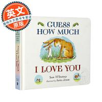 英文原版童书 Guess How Much I Love You 猜猜我有多爱你 亲子作家吴敏兰廖彩杏推荐 纸板书
