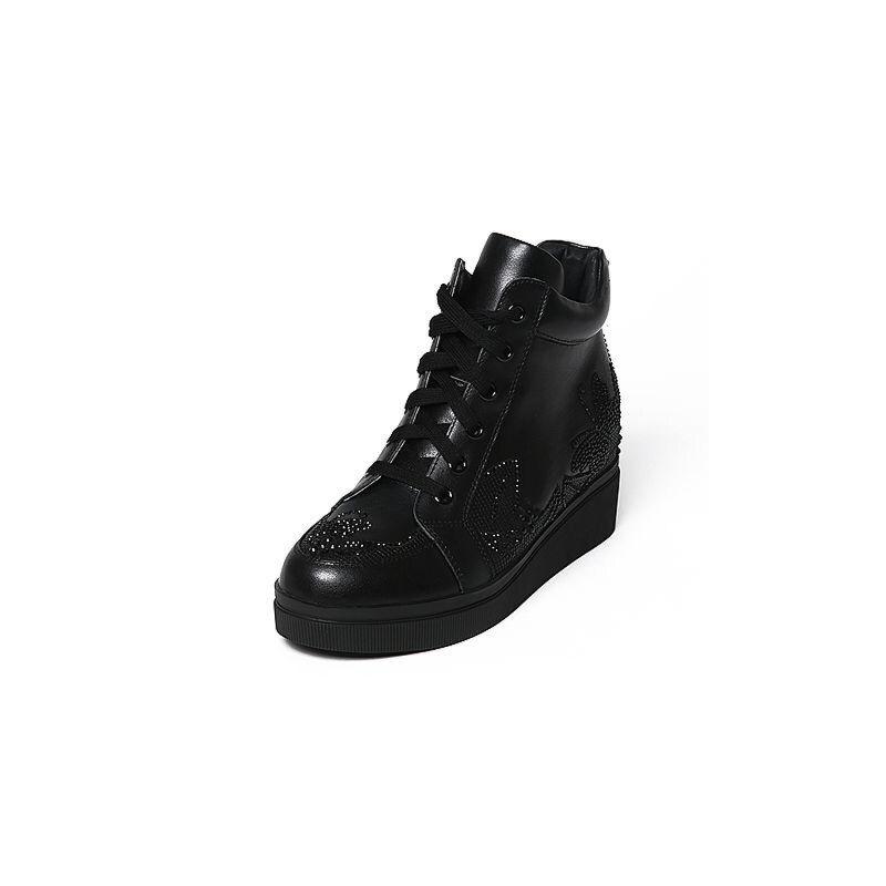 Belle/百丽冬专柜同款牛皮女休闲靴Q5F1DDD6