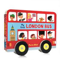 英文原版Whizzy Wheels: My First London Bus 伦敦公共汽车 纸板书低幼启蒙 宝宝撕不烂