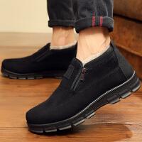 冬季男士棉鞋老北京布鞋男高帮加绒保暖中老年父亲棉靴老人爸爸鞋