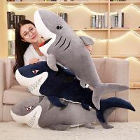 鲨鱼毛绒玩具大号鲸鱼公仔大白鲨靠垫布娃娃创意礼物送女
