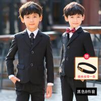 韩版2018新款男童礼服花童小孩西装帅气西服儿童西装套装男三件套