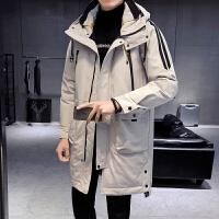 棉袄男冬装2019新款加厚连帽棉服韩版学生潮流中长款棉衣男外套