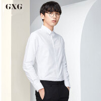 GXG长袖衬衫男装 秋季男士时尚修身休闲多色衬衣斯文长袖衬衫男