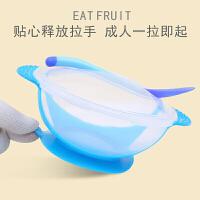 新生儿辅食碗感温软头勺套装宝宝学吃饭吸盘碗掉餐具幼儿专用O
