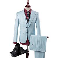 男士西服套装三件套修身英伦韩版西装男商务休闲套装伴郎新郎礼服