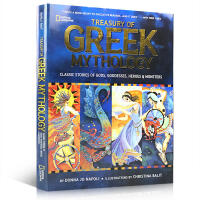 英文原版 Treasury of Greek Mythology 美国国家地理希腊神话图画经典故事书 全彩插画精装版
