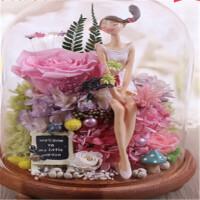 玫瑰花永生花礼盒520情人节礼物生日礼品送女友爱人礼品 只为一人 终其一生~