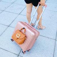 小型迷你行李箱18寸轻便可爱拉杆箱女韩版小清新登机箱旅行箱20寸 玫瑰金【钻石款挂钩】 103