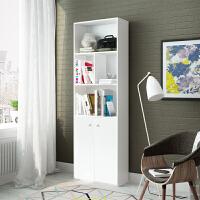 慧乐家书柜书架组合简易储物柜带门柜子文件柜五层置物架学生大书柜