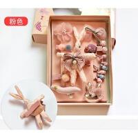 儿童发饰礼品盒宝宝全包布发夹圈套装学生礼物头卡