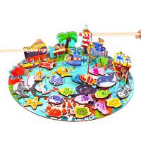 儿童鱼玩具池套装宝宝幼儿磁性1-3-6周岁智力男孩女孩小孩子的