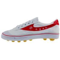 双星大白足 男女学生经典款白色帆布足球鞋