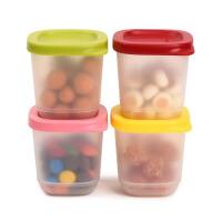 特百惠小可爱迷你冷藏盒塑料便携花茶保鲜盒四件套(颜色随机)110ml