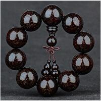 印度小叶紫檀手串2.0满金星男小叶紫檀木佛珠手链108颗女