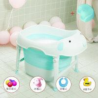 婴儿洗澡游泳桶 网红同款儿童折叠浴桶宝宝洗澡桶冬天婴儿游泳桶家用小孩可坐浴盆O