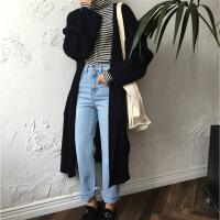 【羊绒】慵懒风针织开衫毛衣外套秋装2018新款中长款女长袖秋