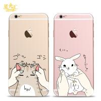 �O果6s手�C���意��s小可�酃枘z防摔���iphone6plus卡通外��