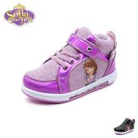 【99元任选2双】迪士尼Disney童鞋18新款儿童运动鞋女童学生鞋苏菲亚公主休闲鞋 (5-10岁可选) K00046