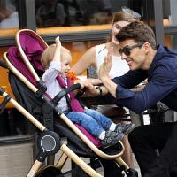 宝宝好D5婴儿推车高景观双向四轮避震手推车可坐躺折叠型小孩童车BB
