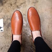 包邮 2016春季新款乐福鞋男士豆豆鞋男潮流休闲皮鞋英伦布洛克雕花男鞋R5506DRJD