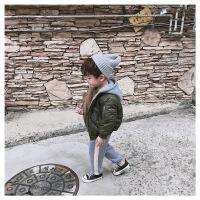 18冬款儿童连帽男女童韩版加棉棒球服宝宝拉链厚外套保暖夹克