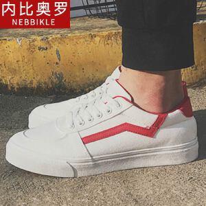 2018新款帆布鞋男潮鞋韩版板鞋休闲鞋