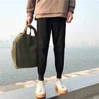 韩版男士弹力小脚长裤休闲裤林弯弯大码哈伦裤束脚裤潮