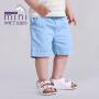 【儿童节大促-快抢券】米奇丁当迷你幼童男童短裤夏季时尚休闲纯色短裤 宝宝裤子