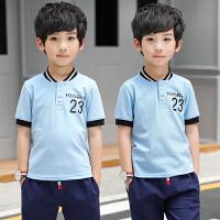 童装男童翻领短袖T恤夏装新款儿童中大童夏季休闲