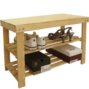 【每满100-50】宜哉 实木穿鞋凳 换鞋凳 松木门厅凳子 玄关鞋架 木质鞋架穿鞋凳