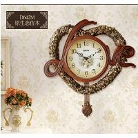 欧式挂钟客厅静音石英钟表现代简约摆钟装饰时钟卧室壁钟