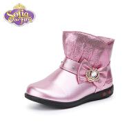 【99元任选2双】迪士尼Disney童鞋女童时装靴子 FS0916