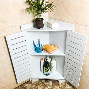 门扉 墙角置物架 客厅转角弧形搁架置物书架卧室转角柜三角柜置物架浴室防水边柜