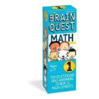 【现货】英文原版 Brain Quest:Grade 1 Math 儿童智力开发系列卡片 1年级数学