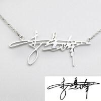 个性签名定制银项链情侣吊坠字字母时尚个性创意学生日礼物送女友礼品