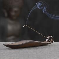 檀香线香炉家用室内香插香座线香香托禅意沉香线香盒供佛卧香炉