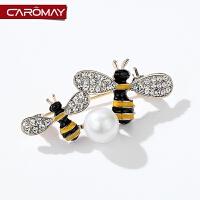 小蜜蜂胸针女 配饰气质外套开衫胸花衣服饰品别针扣领针