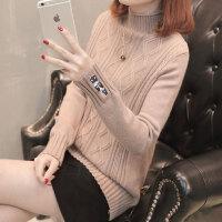 短款加厚半高领毛衣女士冬装打底衫长袖显瘦针织毛线衣时尚百搭潮