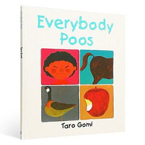 英文进口原版 Everybody Poos 五味太郎 Taro Gomi 吴敏兰推荐 儿童启蒙精装手掌书 大家都要拉便便
