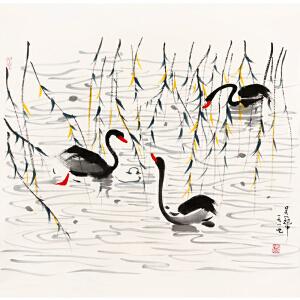 吴冠中《花鸟088995》著名画家