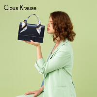 【1件3折,到手价:80.4元】Clous KrauseCK女包手提包新款丝巾手提包单肩包气质淑女欧美风情斜挎包手提包